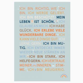 Poster Glückssätze SONNTAGSKINDER 500 px mint