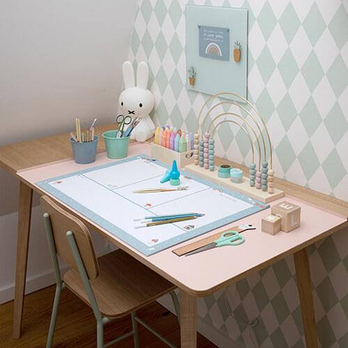 Schreibtischunterlage in Pazifikmint