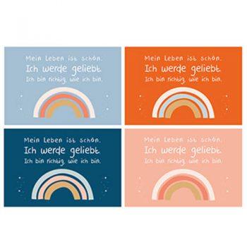 Regenbogen Postkarten Farben