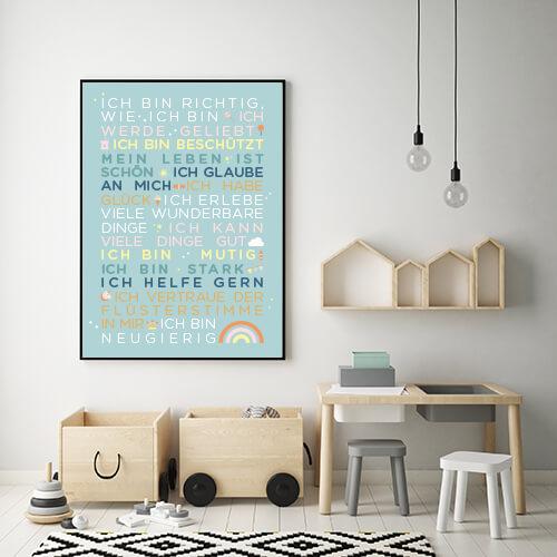 Poster_Kindergartenglückssätze_mintgrün
