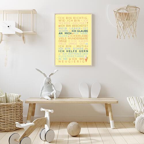 Poster_Kindergartenglückssätze_sonnengelb