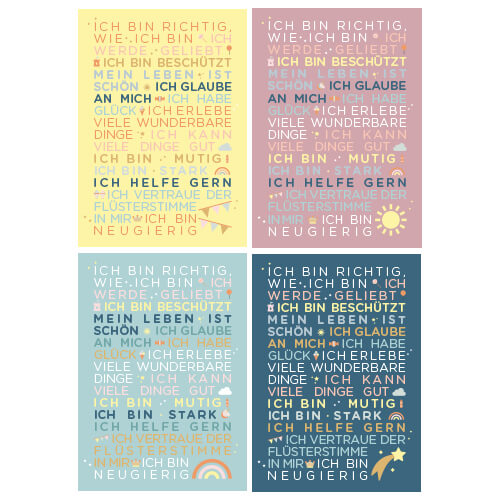 Postkartenset Kindergartenglück