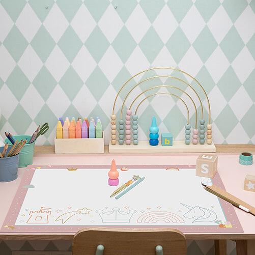 Schreibtischunterlage_Kindergarten_rosé_mood